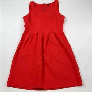 J. Crew Red Flare Dress